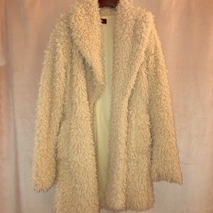 Teddy shag faux coat vintage inspired small